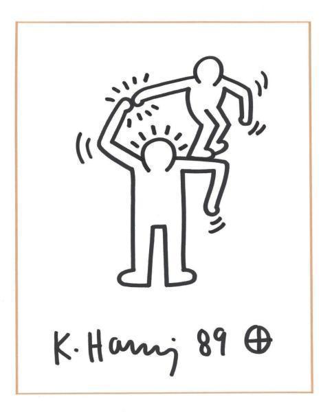 Keith Haring-Keith Haring - Untitled (small man or big man's shoulder)-1989