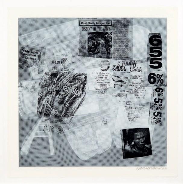 Robert Rauschenberg-Robert Rauschenberg - Surface Series # 39 (From Currents) (F. 110)-1970