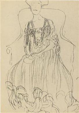 Gustav Klimt-Ohne Titel (15 Facsimile Sketches From 1880 To 1904)-