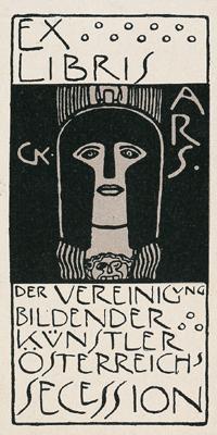 Gustav Klimt-Ex Libris Der Vereinigung Bildender-1903