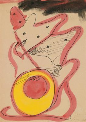 Lucio Fontana-Ohne Titel-1955