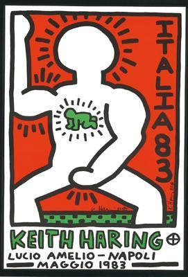 Keith Haring-Keith Haring - Exhibition poster for the Gallery: Lucio-1983