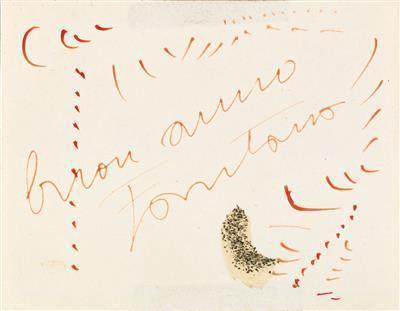 Lucio Fontana-Biglietto di Augur-