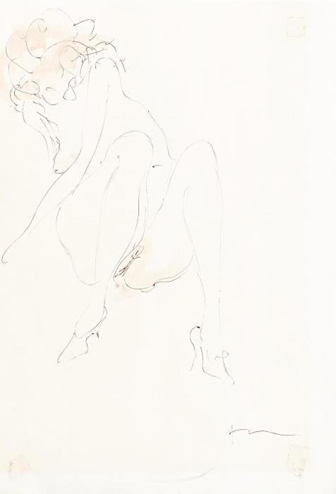 Lucio Fontana-Weiblicher Akt-