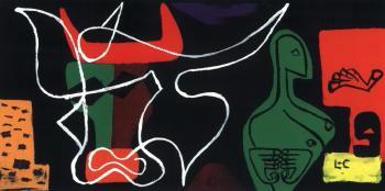 Le Corbusier-Femme et taureau-1962