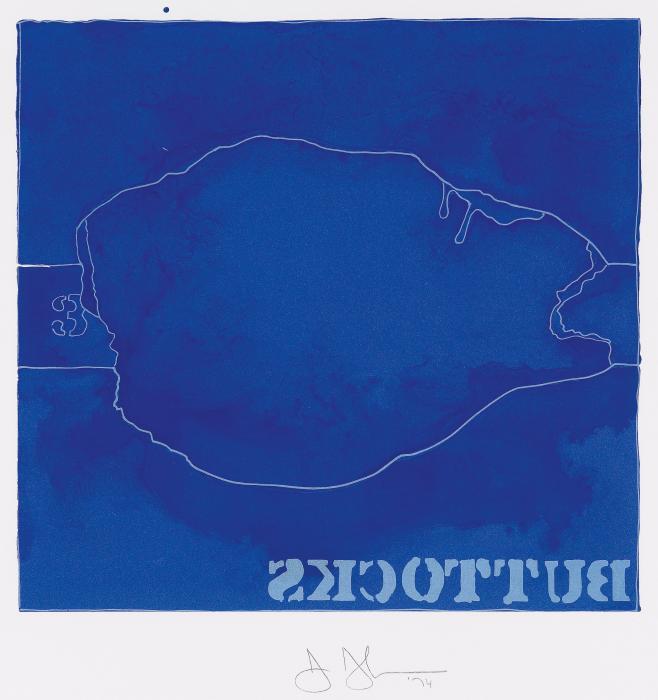 Jasper Johns-Buttocks-1974