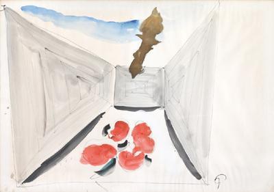 Lucio Fontana-Studien zum Monumento ai Caduti della Resistenza-