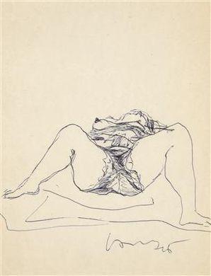 Lucio Fontana-Figura femminile sdraiata-1946