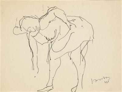 Lucio Fontana-Figura femminile chinata Figura femminile seduta-1946