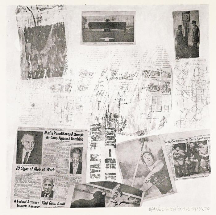 Robert Rauschenberg-Robert Rauschenberg - Features from Currents # 72 (Foster 143)-1970
