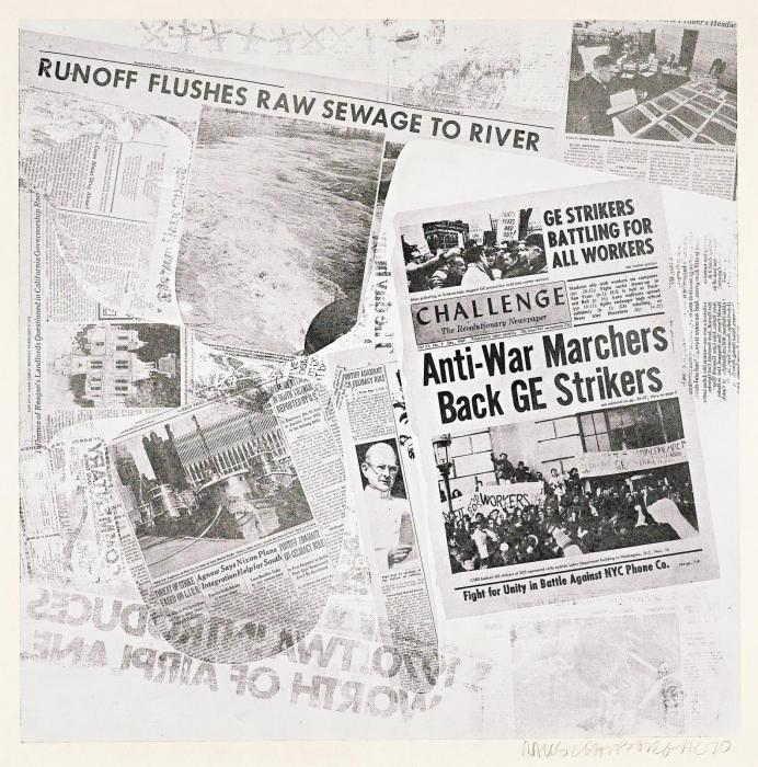 Robert Rauschenberg-Robert Rauschenberg - Features from Currents (Foster 146)-1970