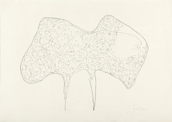 Lucio Fontana-Concetto spaziale - Studio per scultura-1957