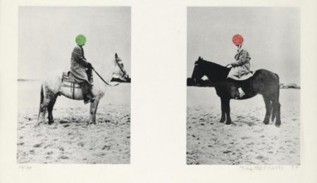 John Baldessari-Two Horses and Rider (with Blue Parrot)-1997