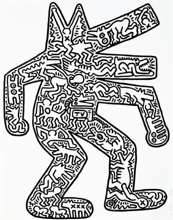 Keith Haring-Keith Haring - Dog-1986
