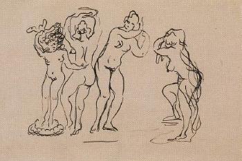 Lucio Fontana-Studi di nudi-