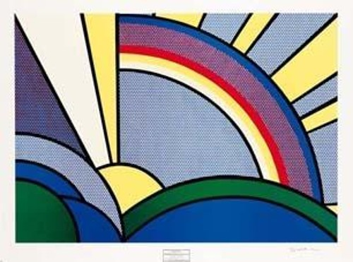 Roy Lichtenstein-Modern Painting with Sun Rays-1967