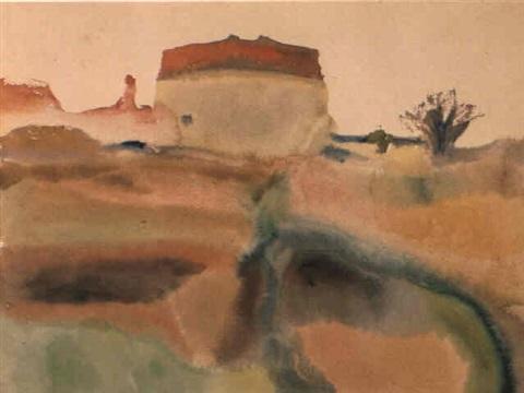 Paul Klee-Gartenerei Bei Munchen-1910