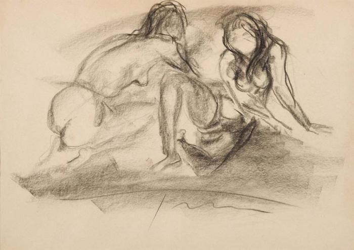 Lucio Fontana-Due nudi femminile-1965