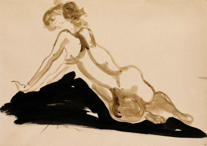 Lucio Fontana-Nudo-1960
