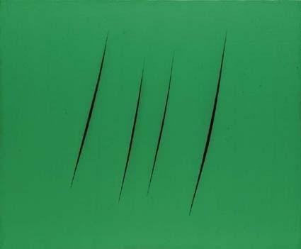 Lucio Fontana-Concetto spaziale-Attese-1965