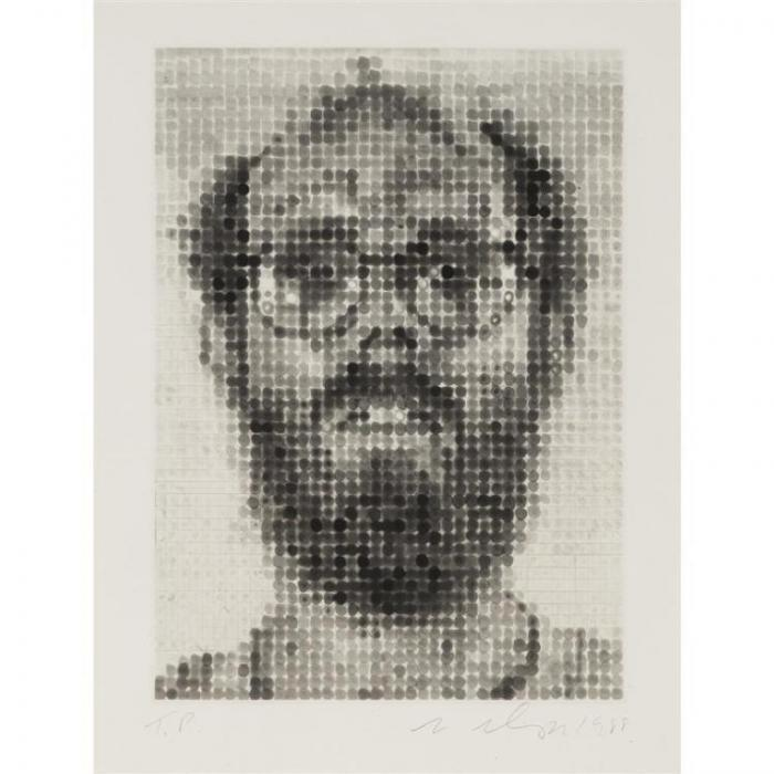 Chuck Close-Self-Portrait-1988
