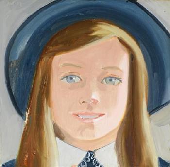 Alex Katz-Amanda with Grey Background-1973