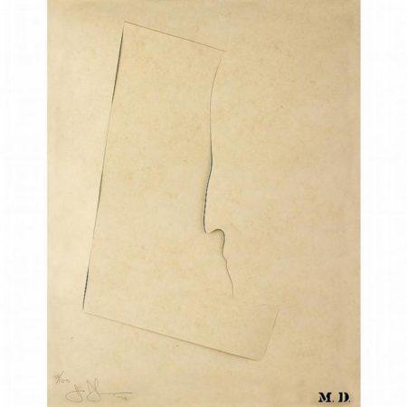 Jasper Johns-M.D. from Merce Cunningham Portfolio-1974