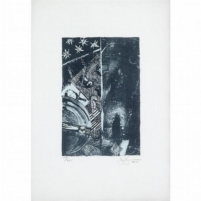 Jasper Johns-Summer - Blue (Ulae 254)-1991