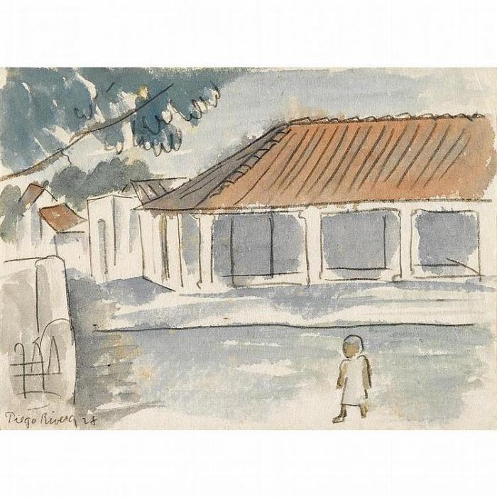 Diego Rivera-Nino en el patio-1928
