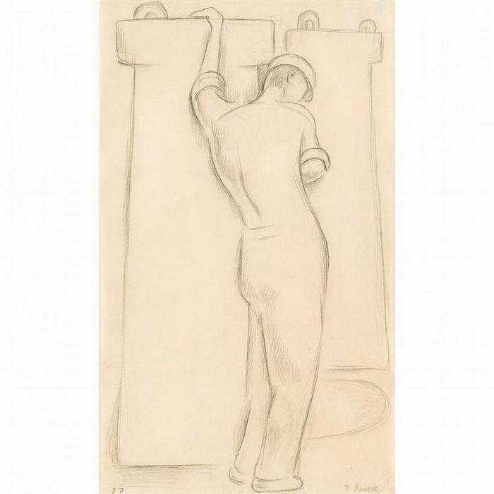 Diego Rivera-Obrero cansado-