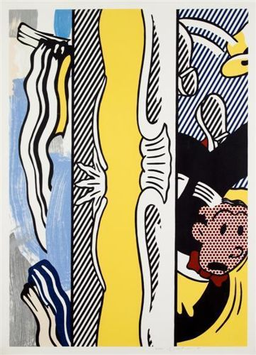 Roy Lichtenstein-Two Paintings: Dagwood, from Paintings-1984
