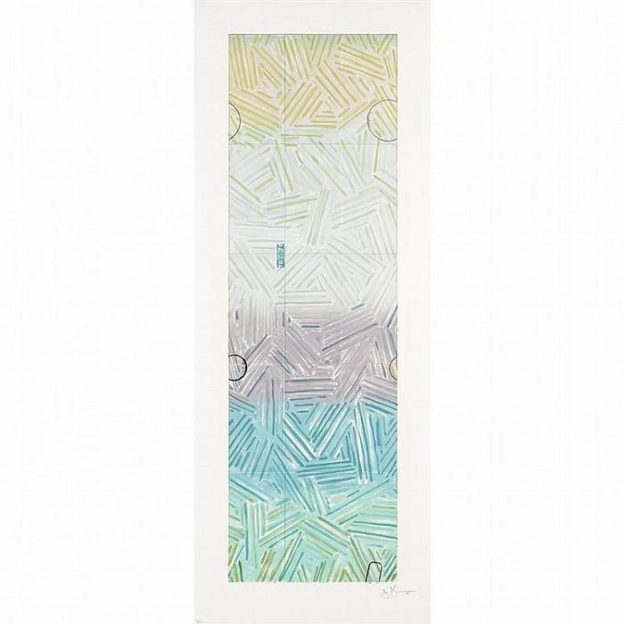 Jasper Johns-Usuyuki (ULAE 211)-1980