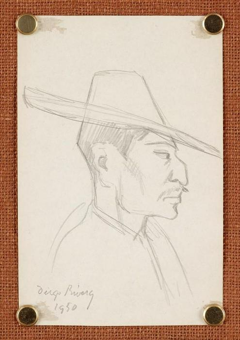Diego Rivera-Portrait of a man-1950