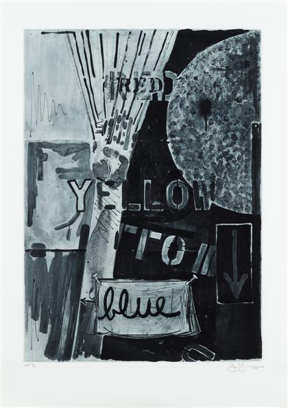 Jasper Johns-Untitled (i) Red; (ii) Yellow (iii) Blue (ULAE 224-6)-1982