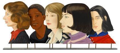 Alex Katz-Five Women (Study for Times Square Mural)-1976