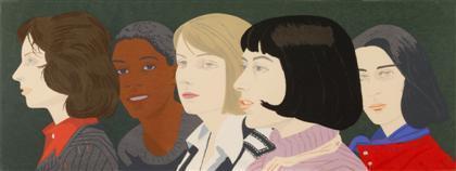 Alex Katz-Five Women (Maravell 94)-1977