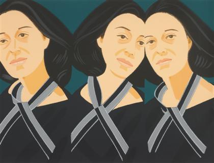 Alex Katz-Gray Ribbon / Grey Ribbon / 3 Adas-1990