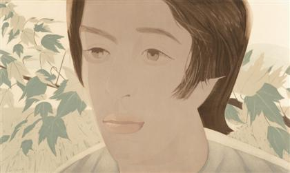 Alex Katz-Boy with Branch II (Maravell 80)-1975