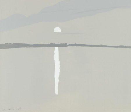 Alex Katz-Sunset, Lake Wasserunset II (M. 59; S.60)-1972