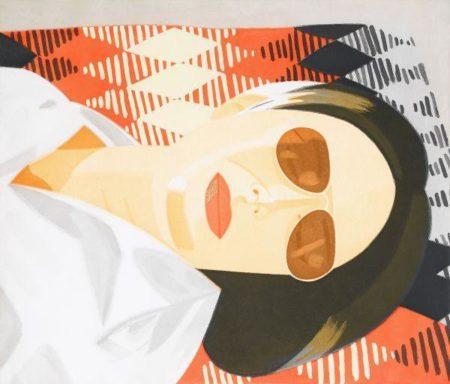 Alex Katz-Reclining Figure / Indian Blanket-1987