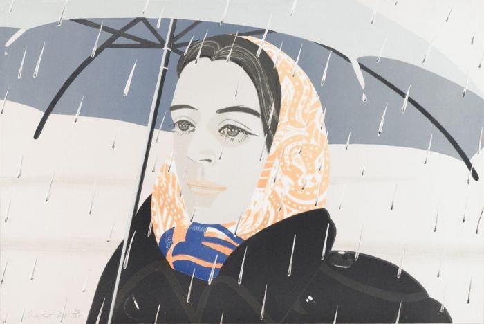Alex Katz-Blue Umbrella (Maravall, 121)-1980
