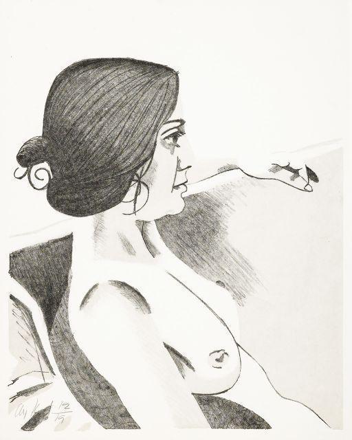 Alex Katz-Ann / Seated Woman I (Maravall 31); Small Head (Maravall 56)-1972