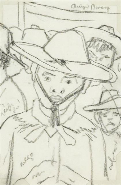 Diego Rivera-Campesino Con Sombrero - Campesino Rodeado De Caras-1947