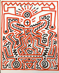 Keith Haring-Keith Haring - Figure Composition-1983