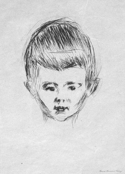 Edvard Munch-Knabenbildnis Andreas Schwarz-1906