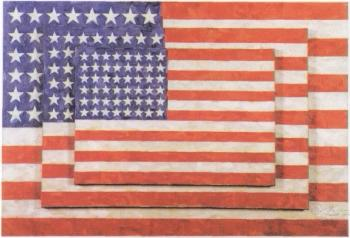 Jasper Johns-Three Flags-1991