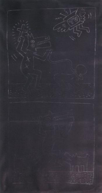 Keith Haring-Keith Haring - Subway Drawing-