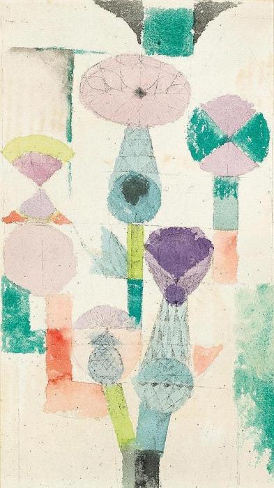 Paul Klee-Betrachtung Der Distelblute-1918