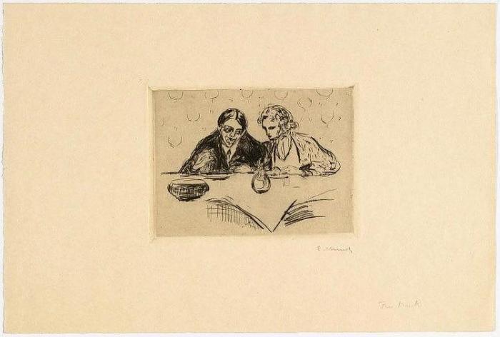 Edvard Munch-Das Souper (Evening Meal)-1926