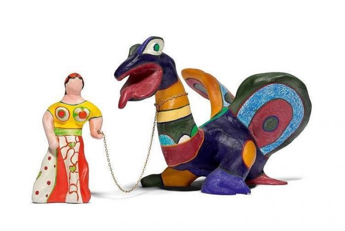 Niki de Saint Phalle-La Force, the Lady and the Dragon-1973